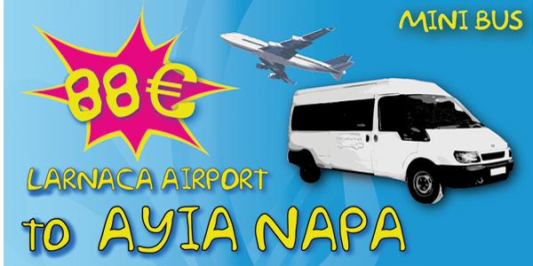 Minibus From Larnaca Airport To Ayia Napa