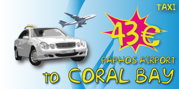 Taxi From Paphos Airport To Coral Bay