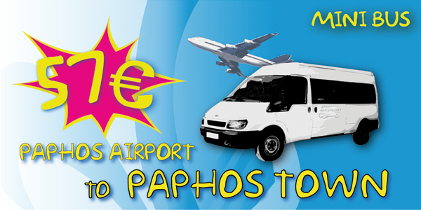 Minibus From Paphos Airport To Paphos Town